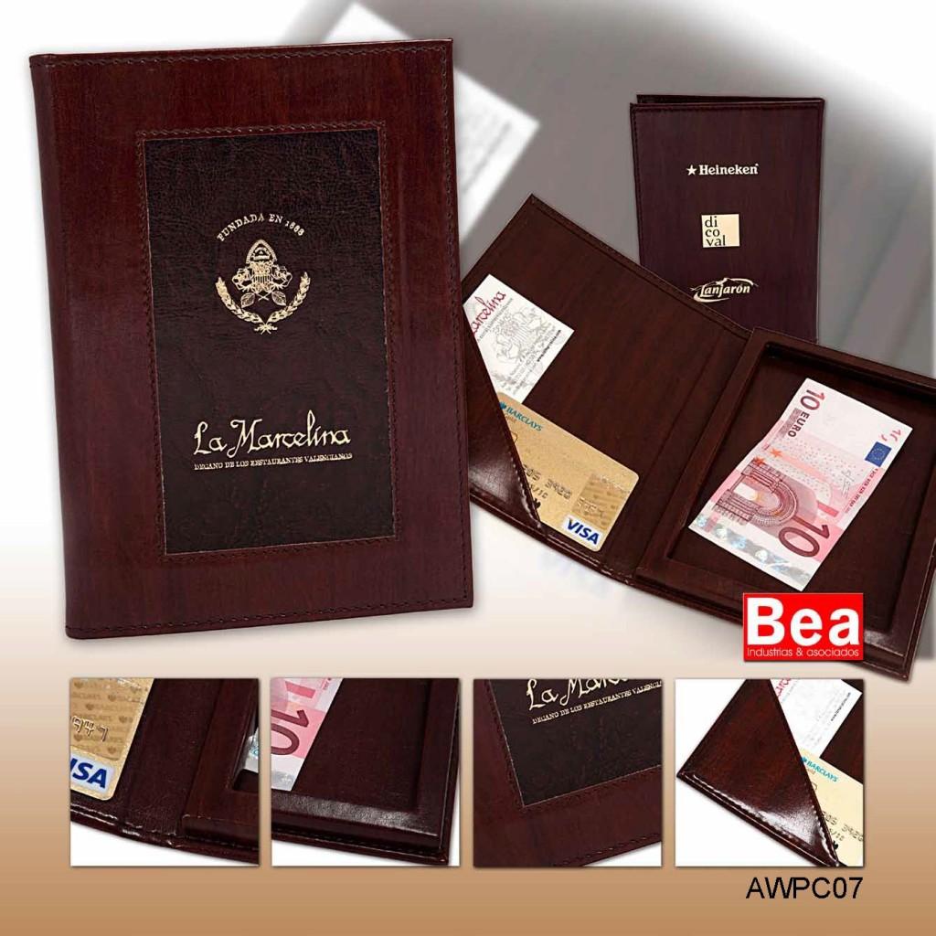 Portacuentas del Restaurante la Marcelina - Valencia