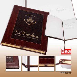 Libro de Firmas / Libro de Honor - Restaurante La Marcelina - Valencia